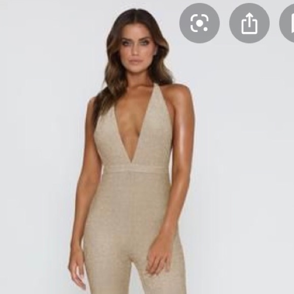 official store big sale hot sales Meshki Other | Nwt Mikayla Gold Jumpsuit Xs | Poshmark